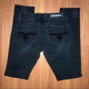 Rock Revival | Amy Black Distressed Skinny Jeans